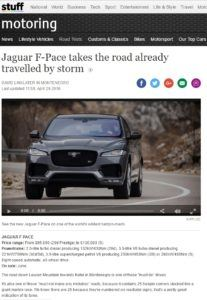 Jaguar F-Pace Stuff.nz