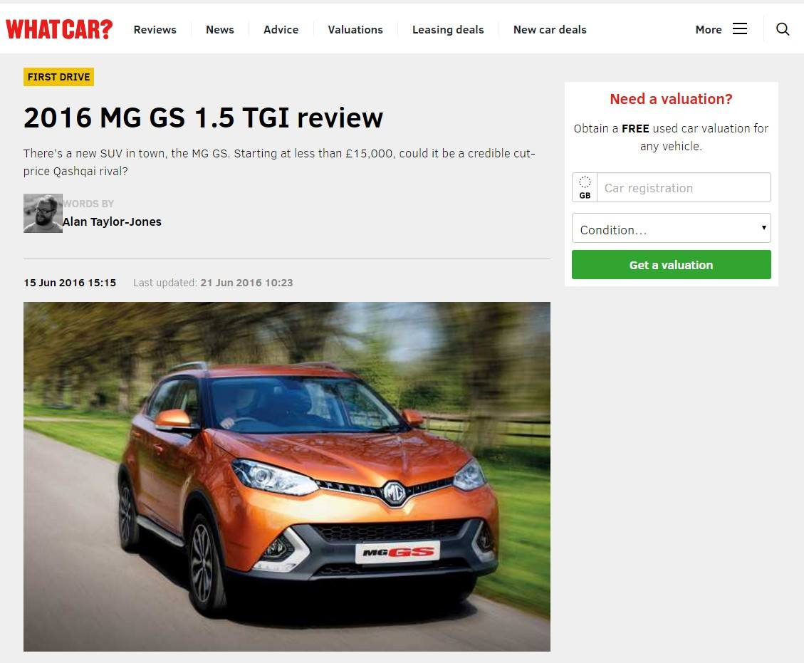 MG GS Whatcar