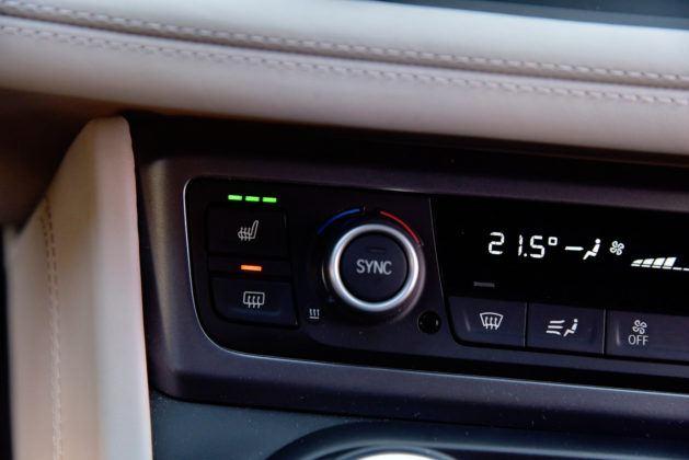 BMW i8 - ustawienia ogrzewania