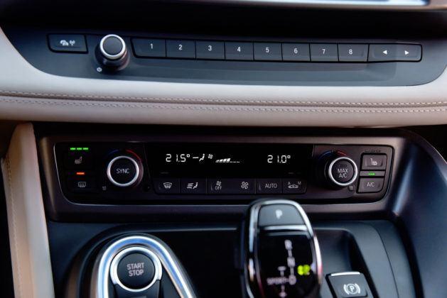 BMW i8 - ustawienia klimatyzacji