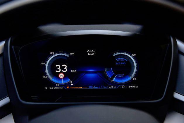 BMW i8- wskaźniki w trybie Eco Pro