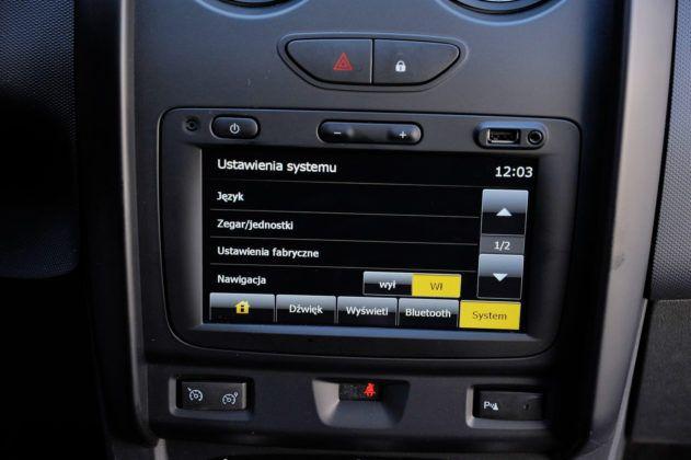 Dacia Duster - system multimedialny - ustawienia