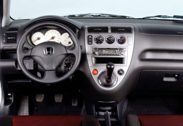 Honda Civic VII - deska rozdzielcza