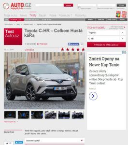 Toyota C-HR, Auto.cz