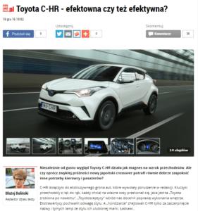 Toyota C-HR, Auto Świat