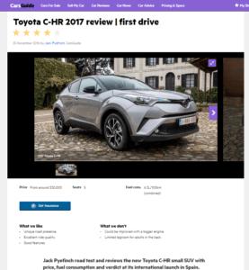 Toyota C-HR, CarsGuide