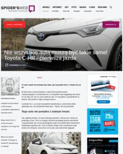 Toyota C-HR, Spider's Web