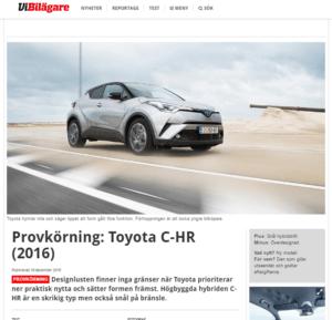 Toyota C-HR, Vi Bilägare