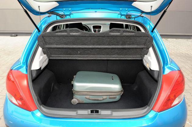 Używany Peugeot 207 - bagażnik