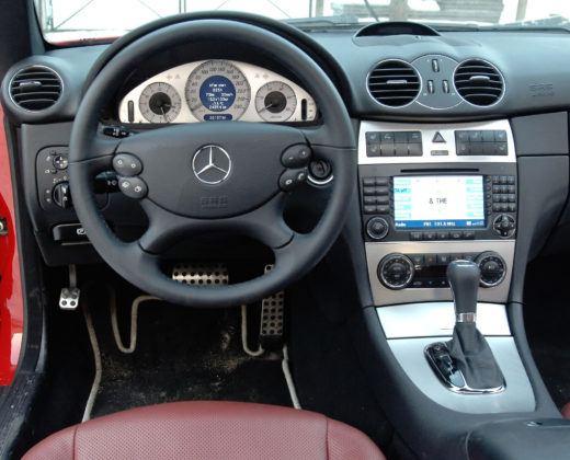 Mercedes CLK - deska rozdzielcza