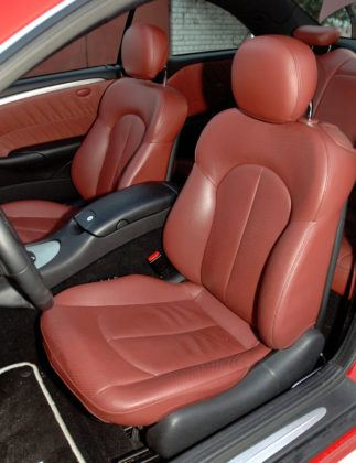 Mercedes CLK - fotel kierowcy