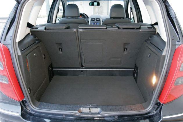 Mercedes Klasy A W169 - bagażnik