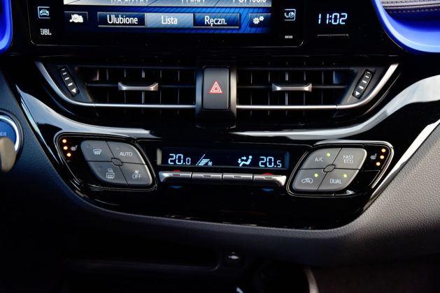 Toyota C-HR - sterowanie klimatyzacją