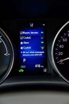Toyota C-HR- wyświetlacz środkowy, systemy wspomagające