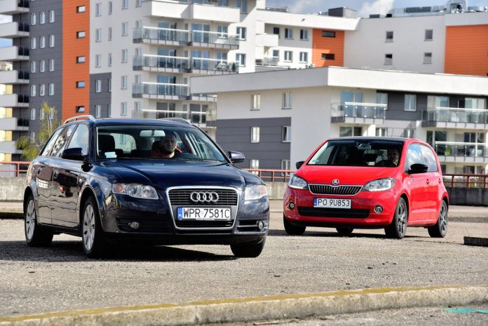 Audi A4 vs Skoda Citigo