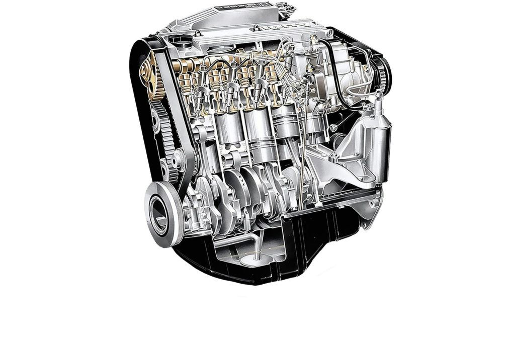 Audi - silnik pięciocylindrowy
