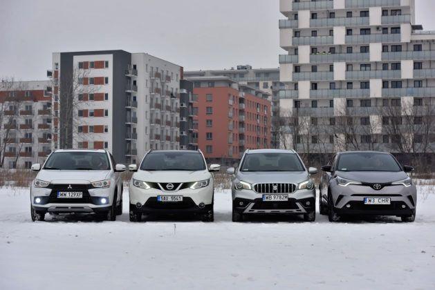 Mitsubishi ASX, Nissan Qashqai, Suzuki SX4 S-Cross, Toyota C-HR