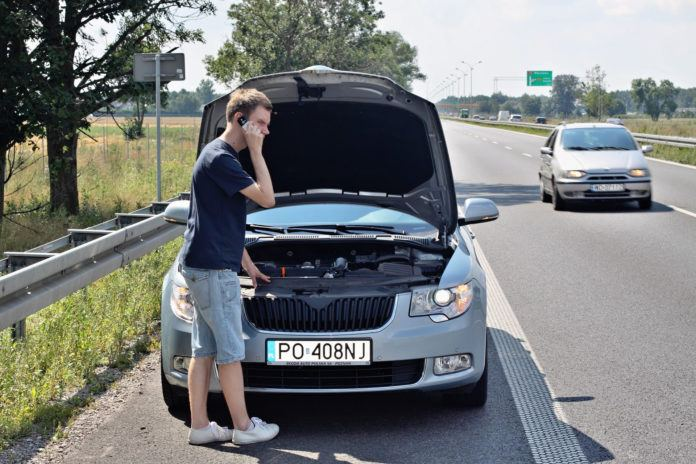 Awaria na autostradzie