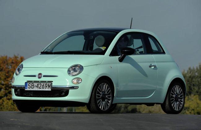 Auta małe - najdroższy - Fiat 500