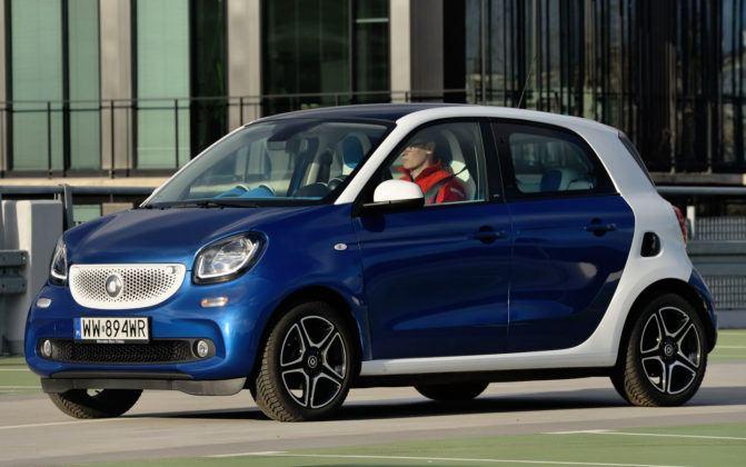 Auta małe - najgorszy - Smart Forfour