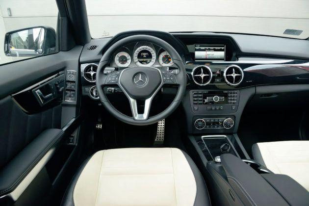 Mercedes GLK - deska rozdzielcza
