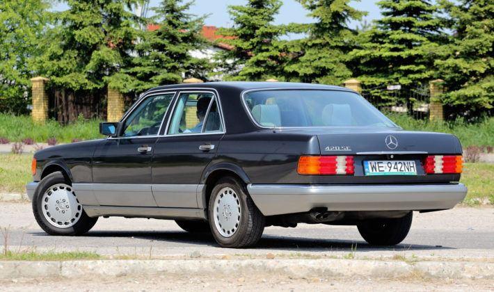 Mercedes Klasy S W126 - tył