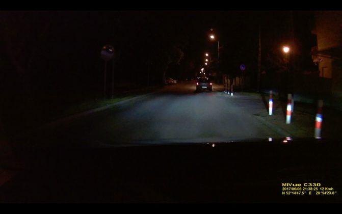 Mio Mivue C330 - obraz noc