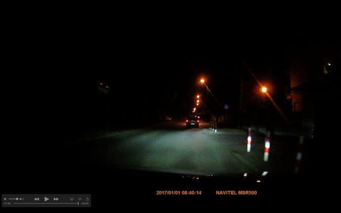 Navitel MSR500 - obraz noc