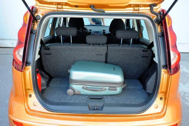 Nissan Note - bagażnik
