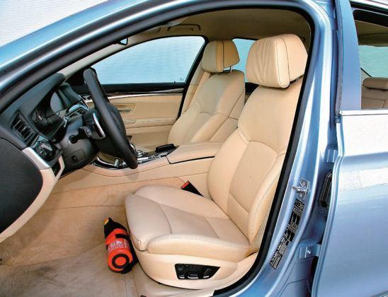 BMW 5 Active Hybrid - fotel kierowcy