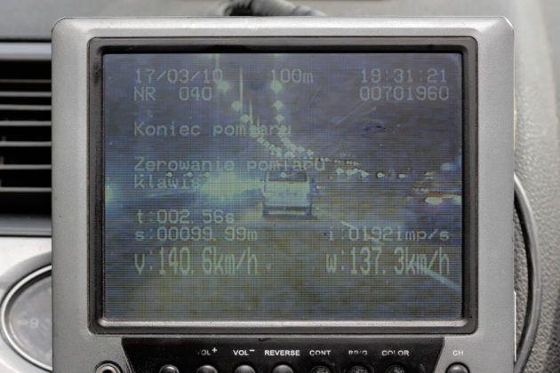 Wideorejestrator - widok na ekranie