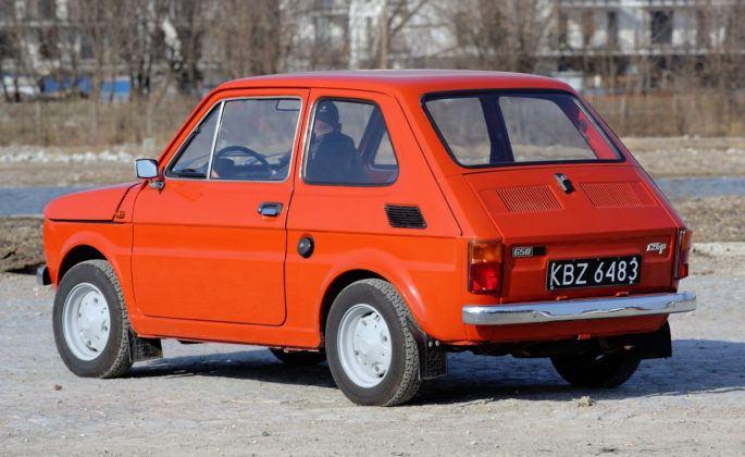 Fiat 126p - tył