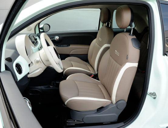 Auta mini - najgorszy - Fiat 500 (fotel kierowcy)