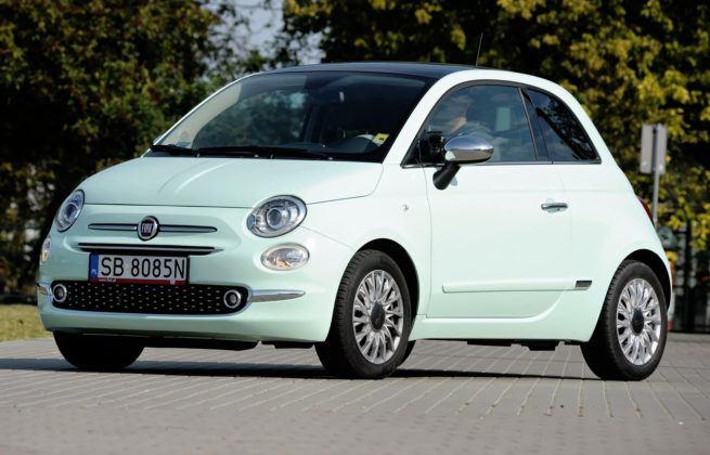 Auta mini - najgorszy - Fiat 500 (sylwetka)