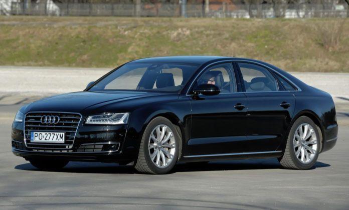 Klasa wyższa - najlepszy - Audi A8 (sylwetka)