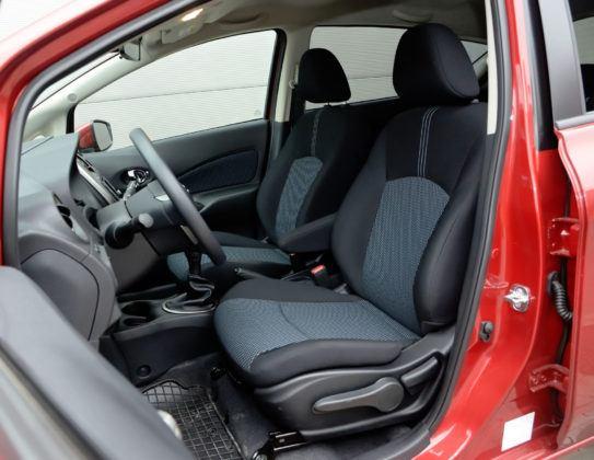 Minivany - najgorszy - Nissan Note (fotel kierowcy)