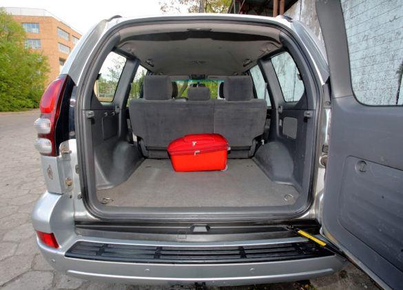 Toyota Land Cruiser J120 - bagażnik