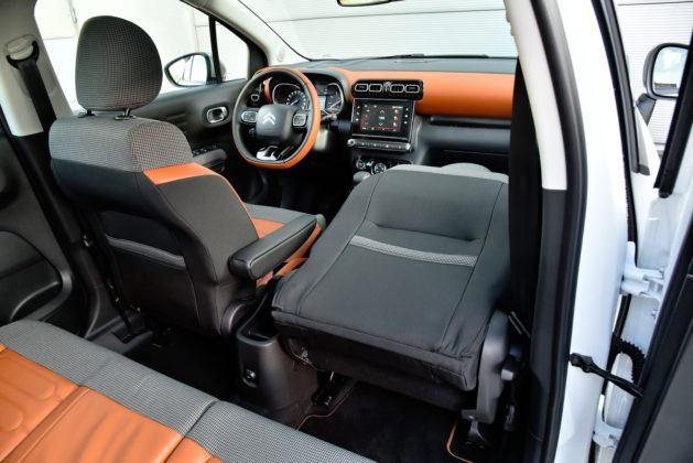Citroen C3 Aircross - składany fotel pasażera