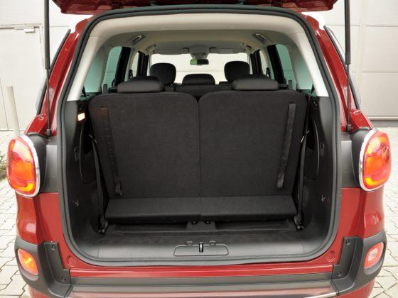 Fiat 500L Living - bagażnik (3 rząd rozłożony)