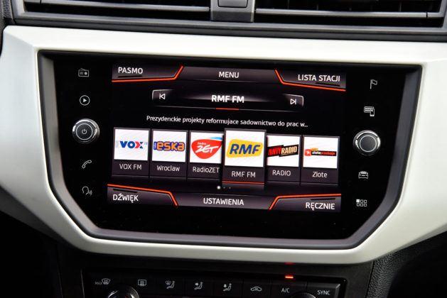 Seat Arona - system multimedialny