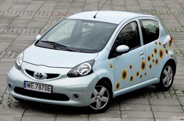 Najwyższe przebiegi w klasie mini - Toyota Aygo.