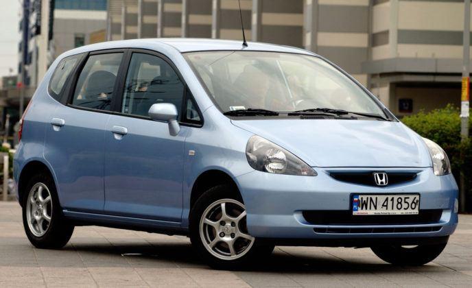 Najniższe przebiegi w klasie aut miejskich - Honda Jazz.