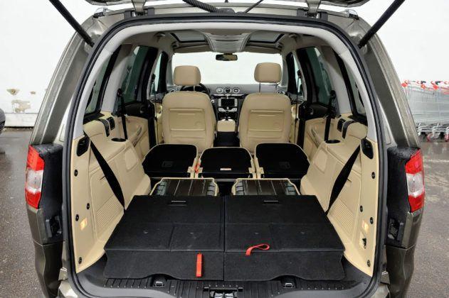 Ford Galaxy II - bagażnik (2. i 3. rząd siedzeń złożone)