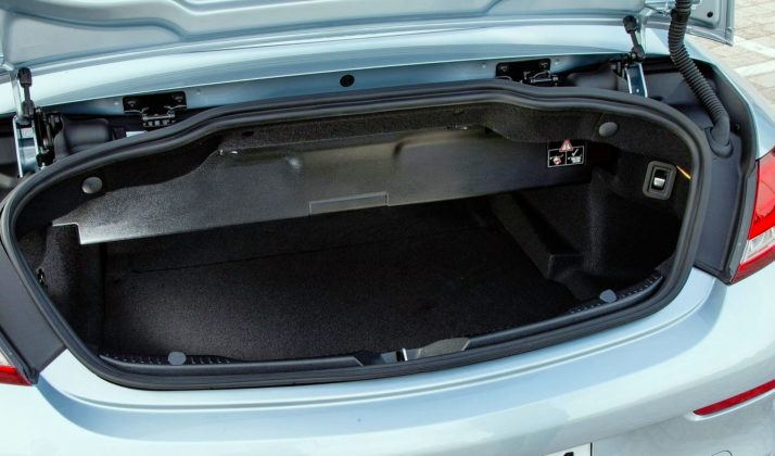 Klasa średnia - najgorszy - Mercedes C Cabrio (bagażnik)