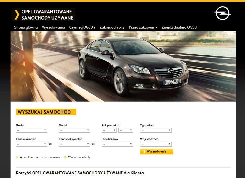 Opel gwarantowane samochody używane