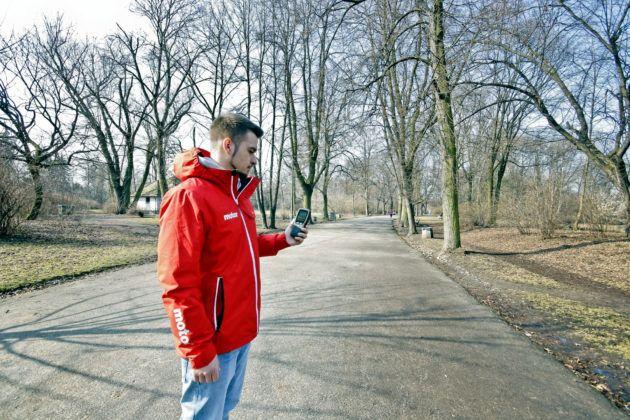 Pomiar stężenia pyłów w parku