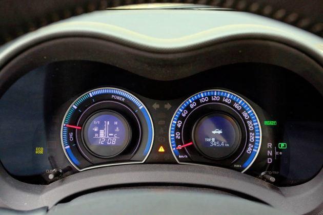Toyota Auris I Hybrid - wskaźniki