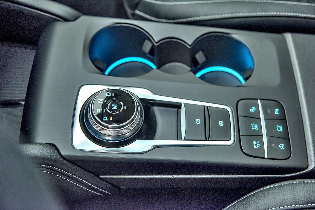 Nowy Ford Focus - pokrętło skrzyni biegów