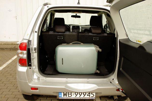 Suzuki Grand Vitara 3d - bagażnik