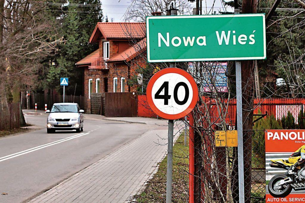 Ograniczenie prędkości na terenie całych miejscowości